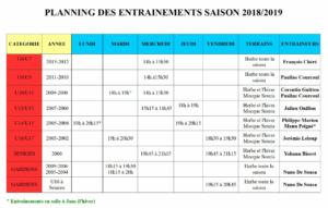 Planning Jeunes 2018-2019